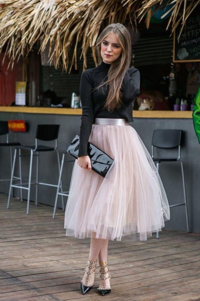 юбка пачка нарядная под черную блузку