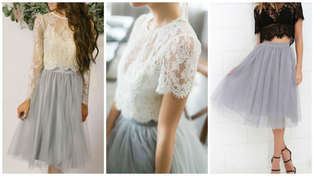 юбка пачка нарядная под кружевные топы белый черный