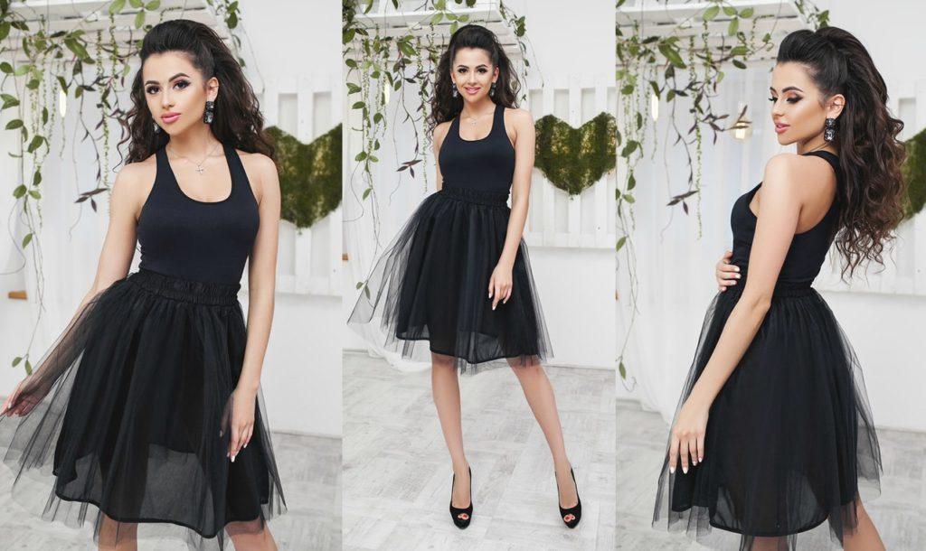 черная юбка пачка под майку черную