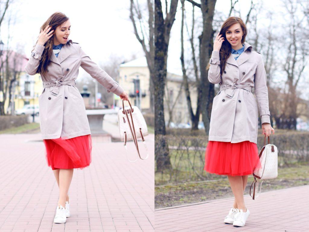 юбка пачка под пальто под кроссовки