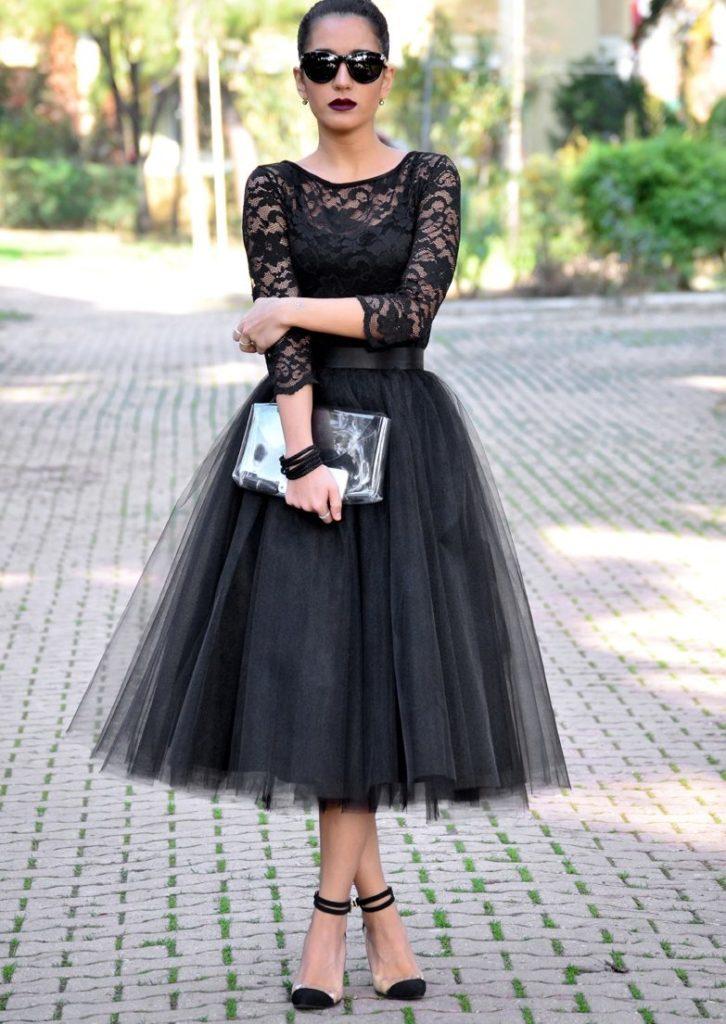 юбка пачка под блузку черную