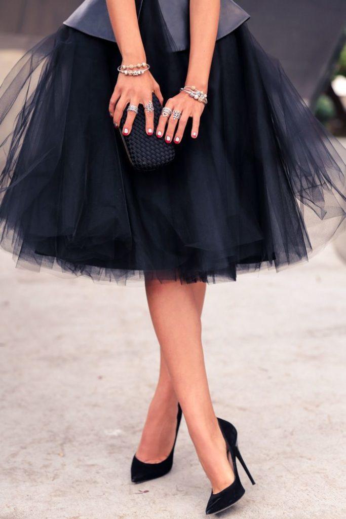 юбка пачка под аксессуары браслеты кольца клатч