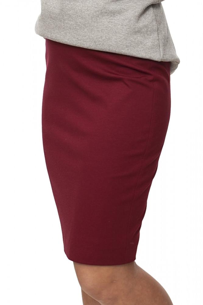 юбка-карандаш бордовая