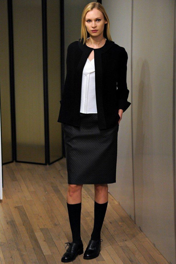 черная юбка под черный жакет