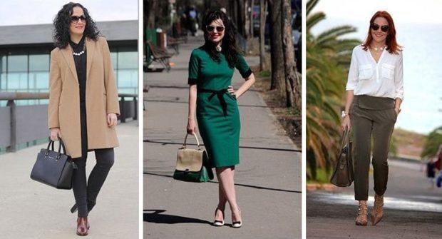 бежевое пальто зеленое платье короткие брюки под рубашку белую
