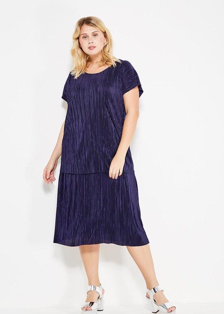 синее платье летнее