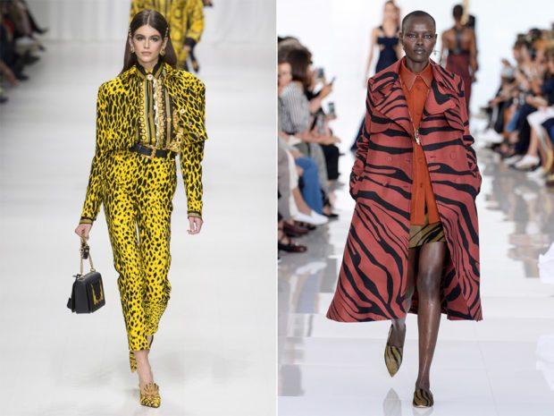 желтый костюм леопардовый принт плащ зебра