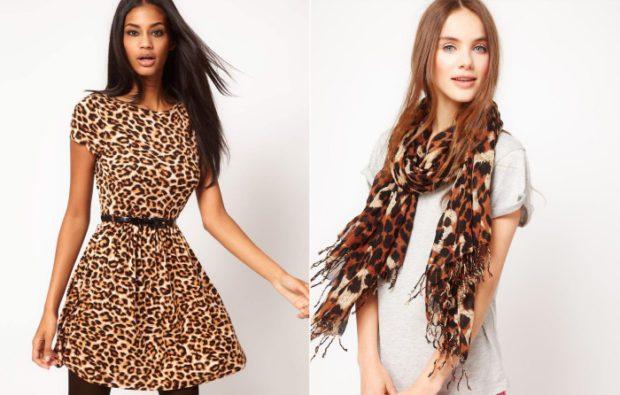 платье леопардовый принт шарф леопардовый