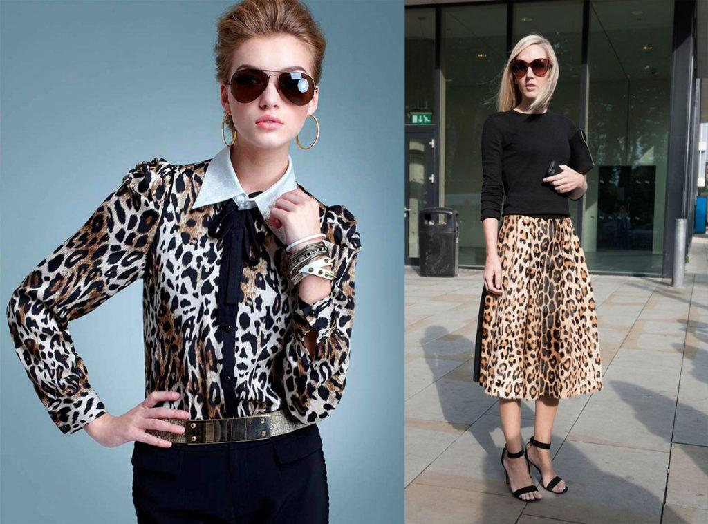 блузка и юбка леопардовый принт