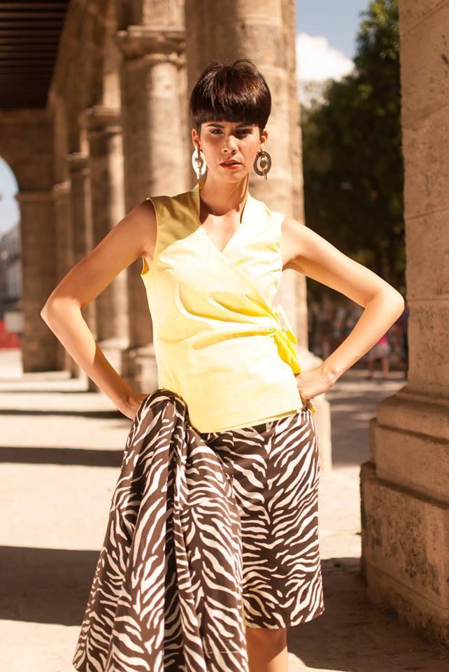 юбка в зебру