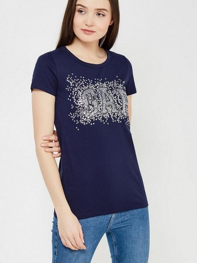 футболка синяя под джинсы