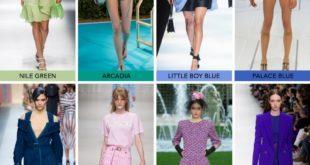 Модные цвета весна лето 2018 года