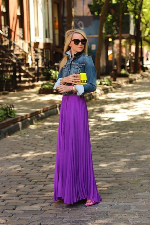 сочетание фиолетового с серым