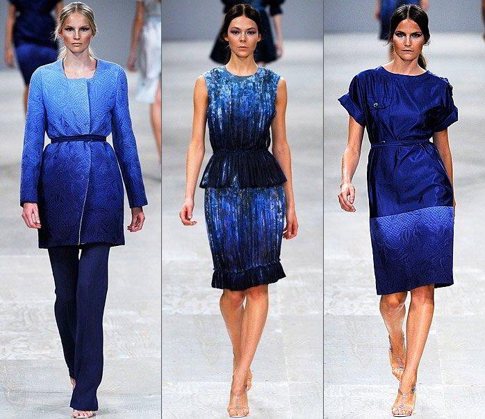 одежда модного цвета индиго