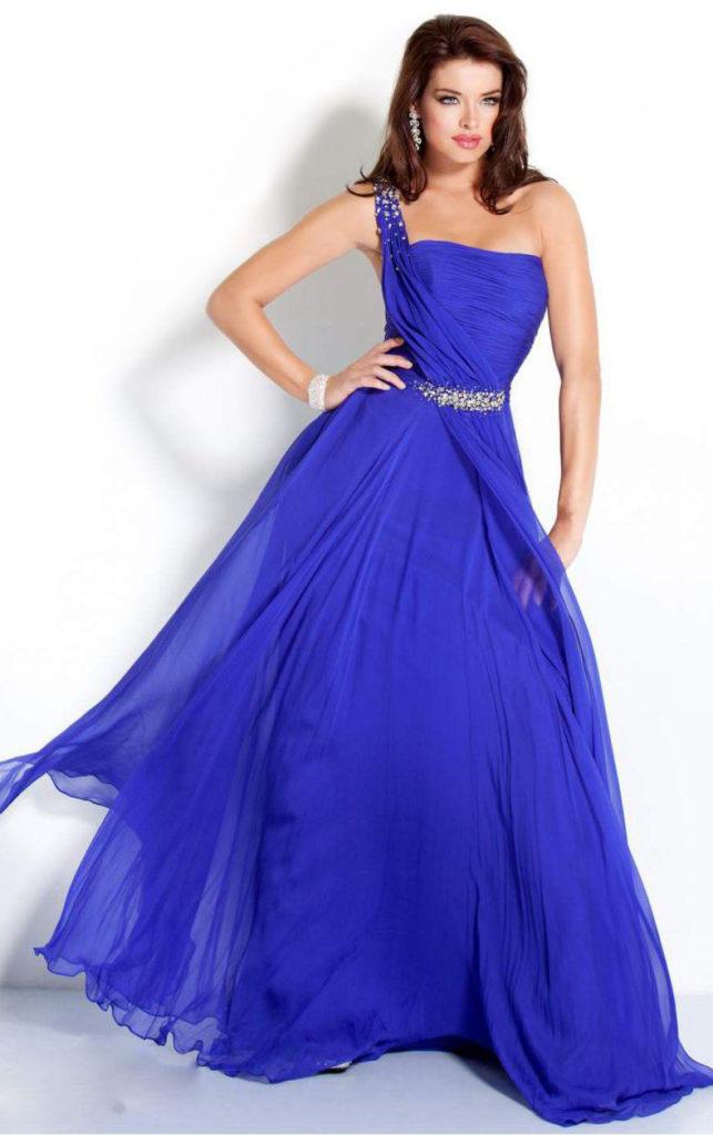 платье пышное ультрамарин