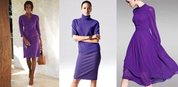 ультрафиолетовые платья