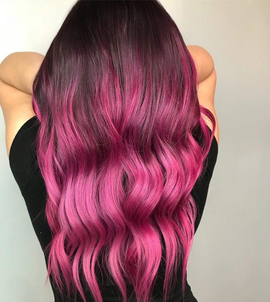 розовое омбре