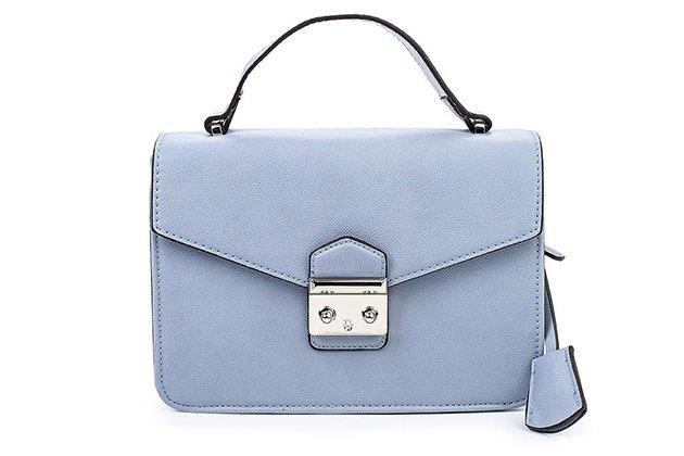 сумка грязно-голубая