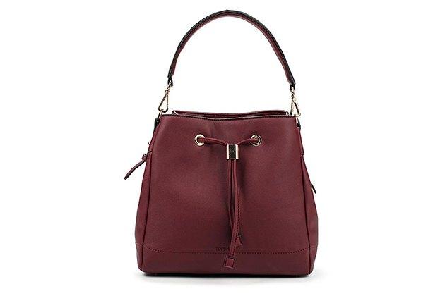 сумка красно-коричневая