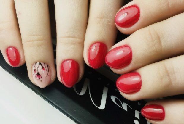 маникюр красный