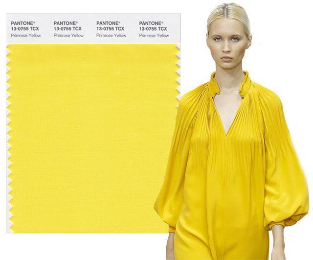 Модные цвета весна 2021: желтый