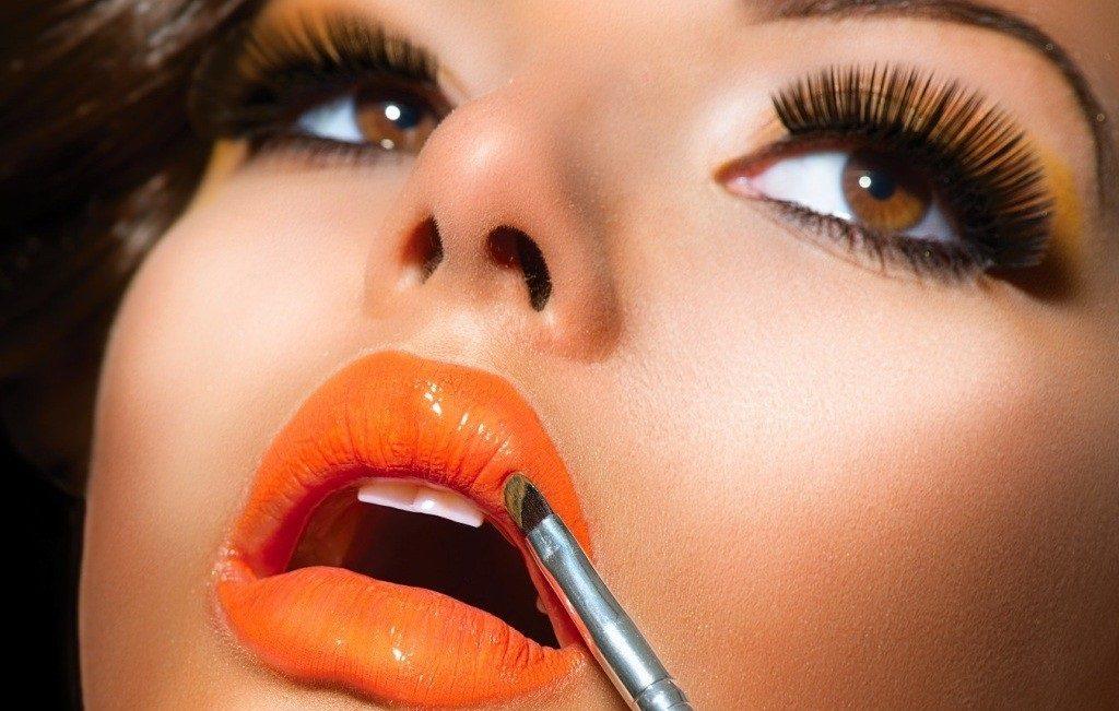 оранжевый цвет помады