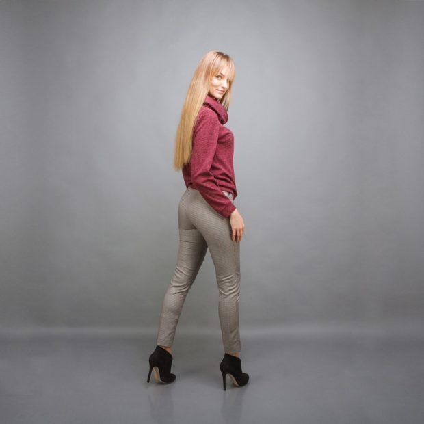 Зауженные брюки серые