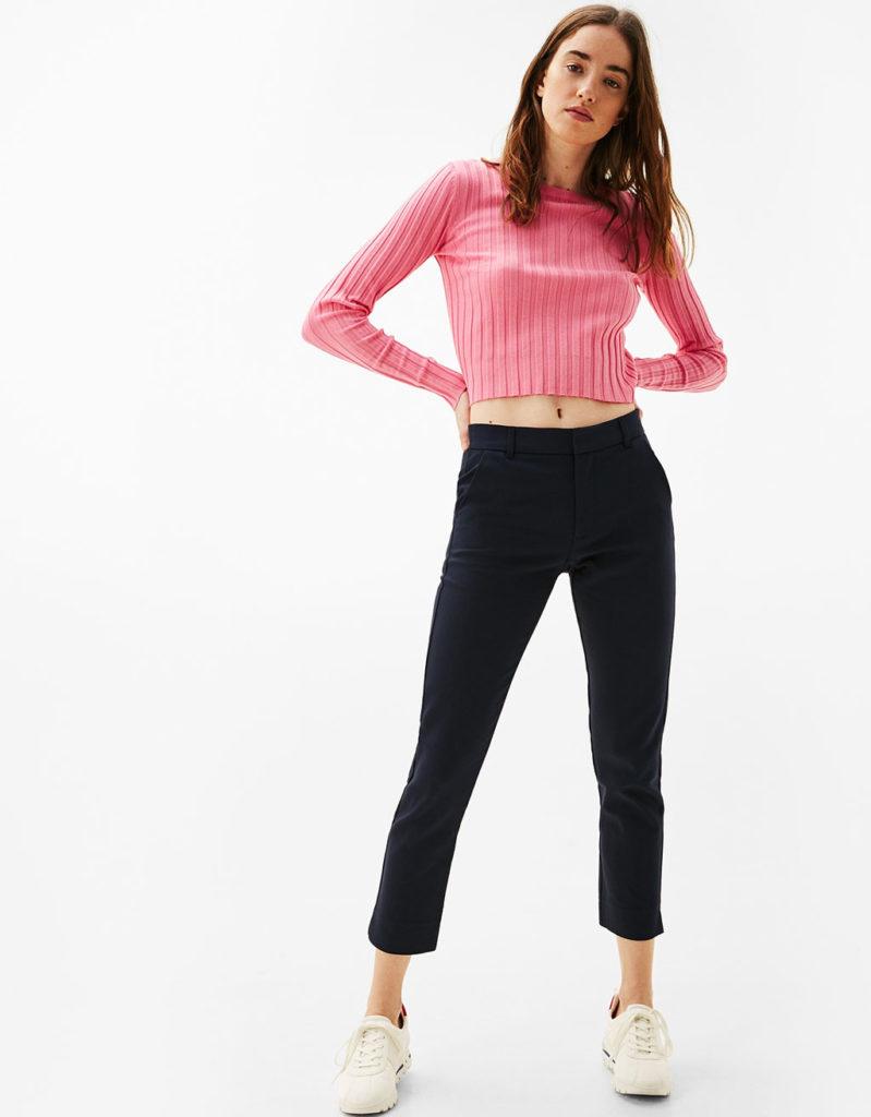 женские брюки весна лето: модные чинос черные