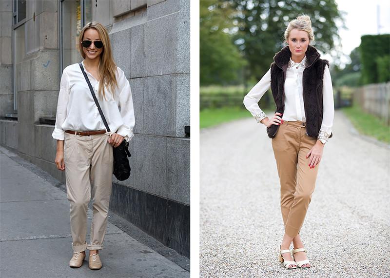 женские брюки весна лето: модные чинос серые бежевые