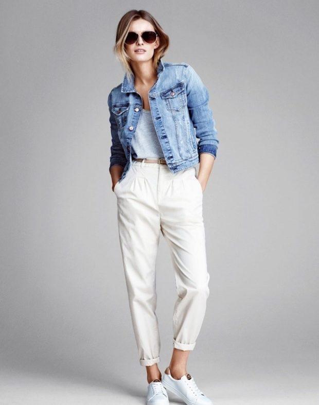 модные брюки чинос белые