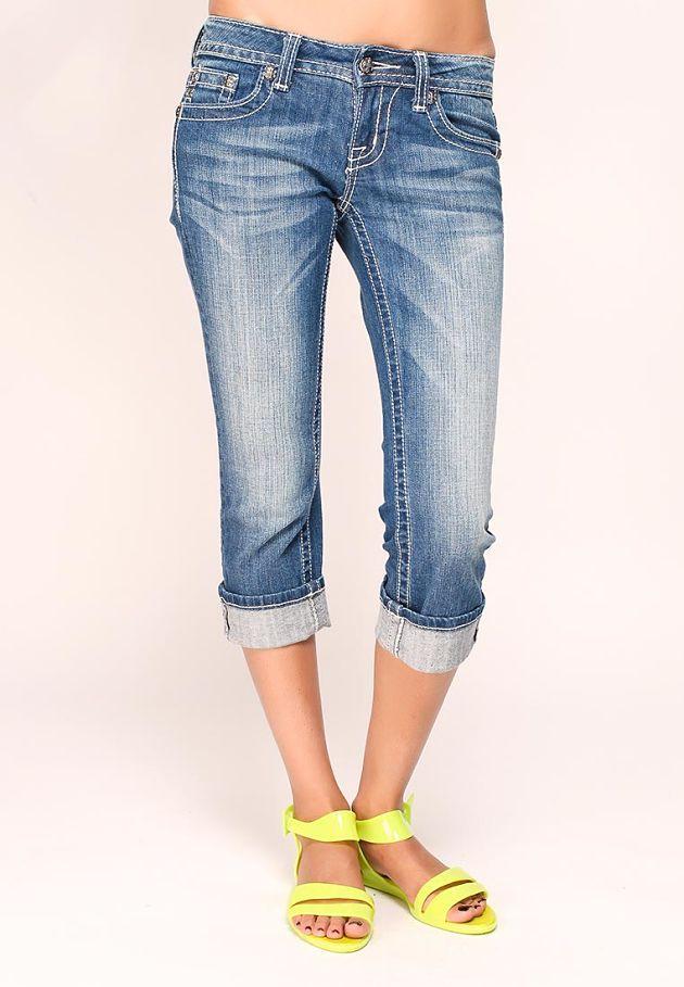 бриджи джинсовые потертые