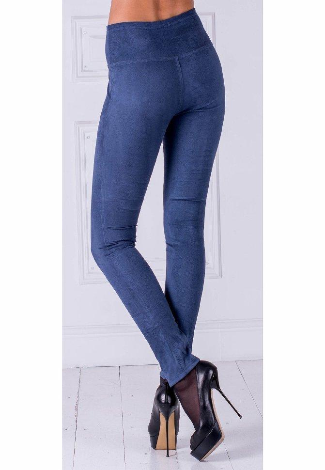 Леггинсы джинсовые синие