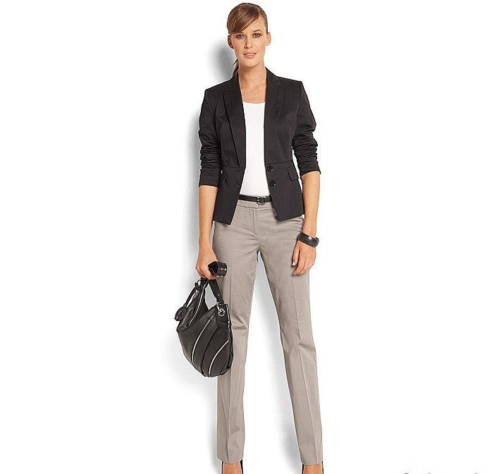 Классические брюки женские серые со стрелками