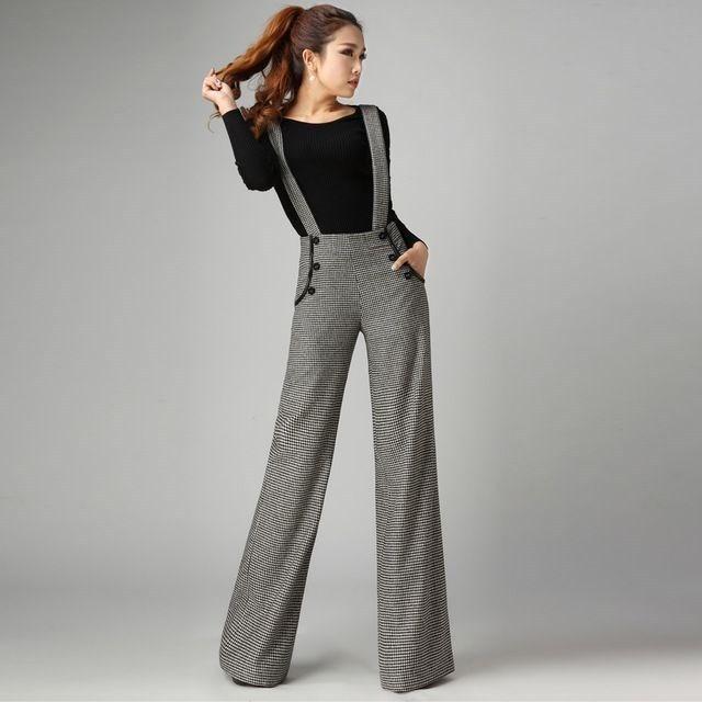 Расклешенные брюки женские серые