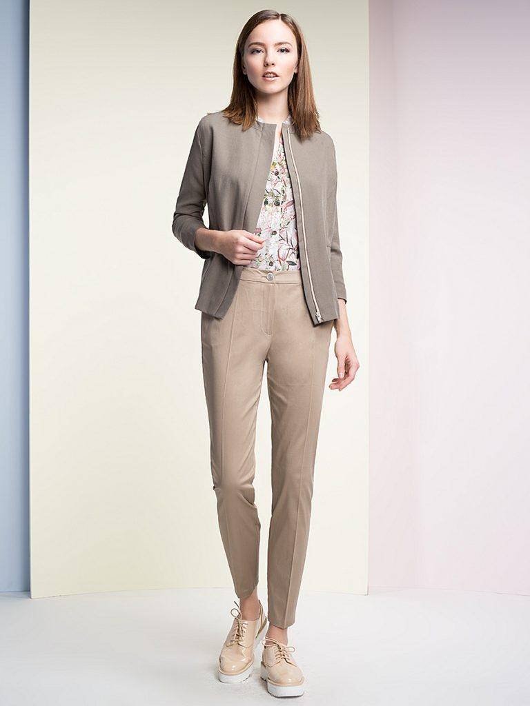 Прямые брюки кофейного цвета