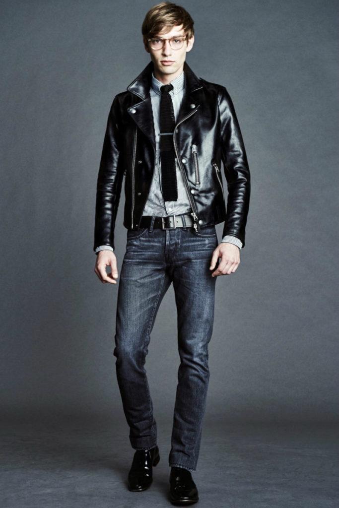 мужские куртки весна 2020: косуха черная