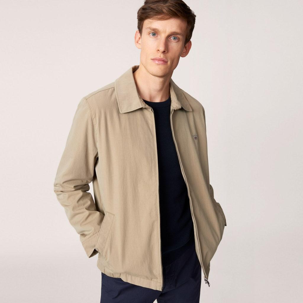 мужские куртки весна 2020: бежевая ветровка