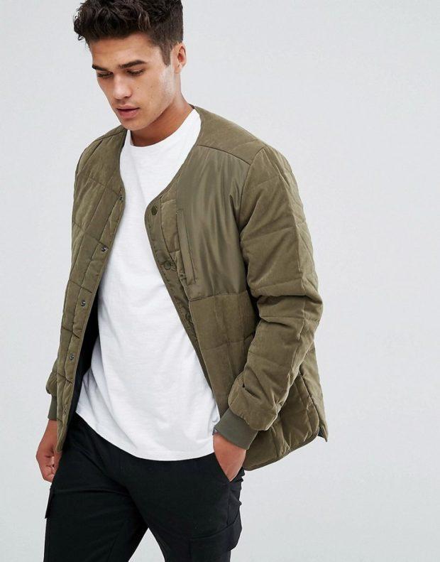 мужские куртки весна 2020: зеленая весенняя