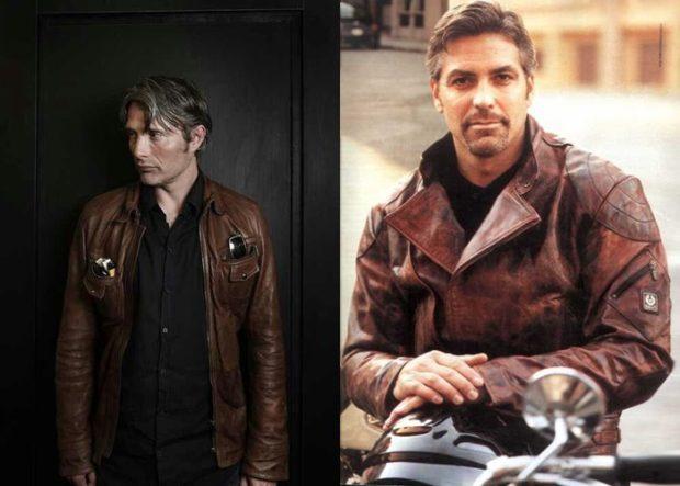 мужские куртки весна: коричневая кожаная