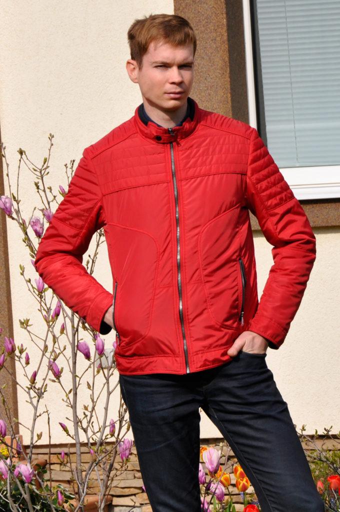куртка на синтепоне красная
