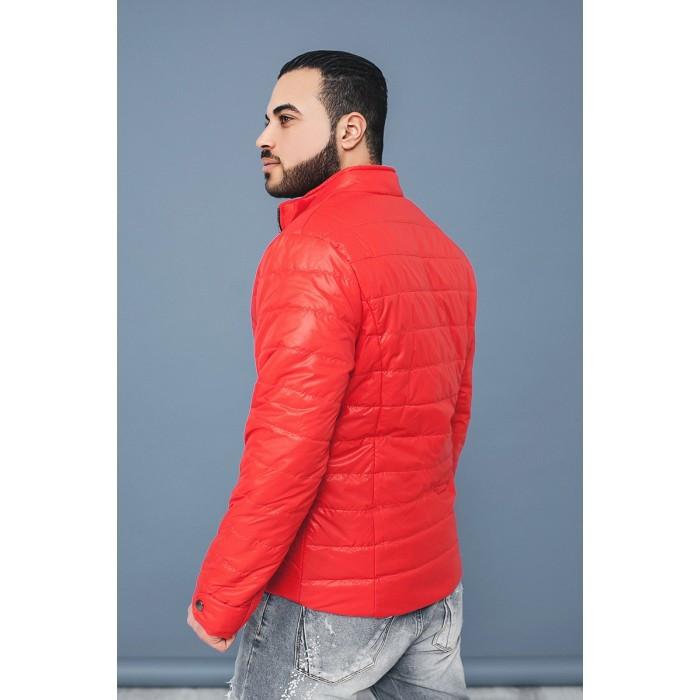куртка на синтепоне красная стеганая