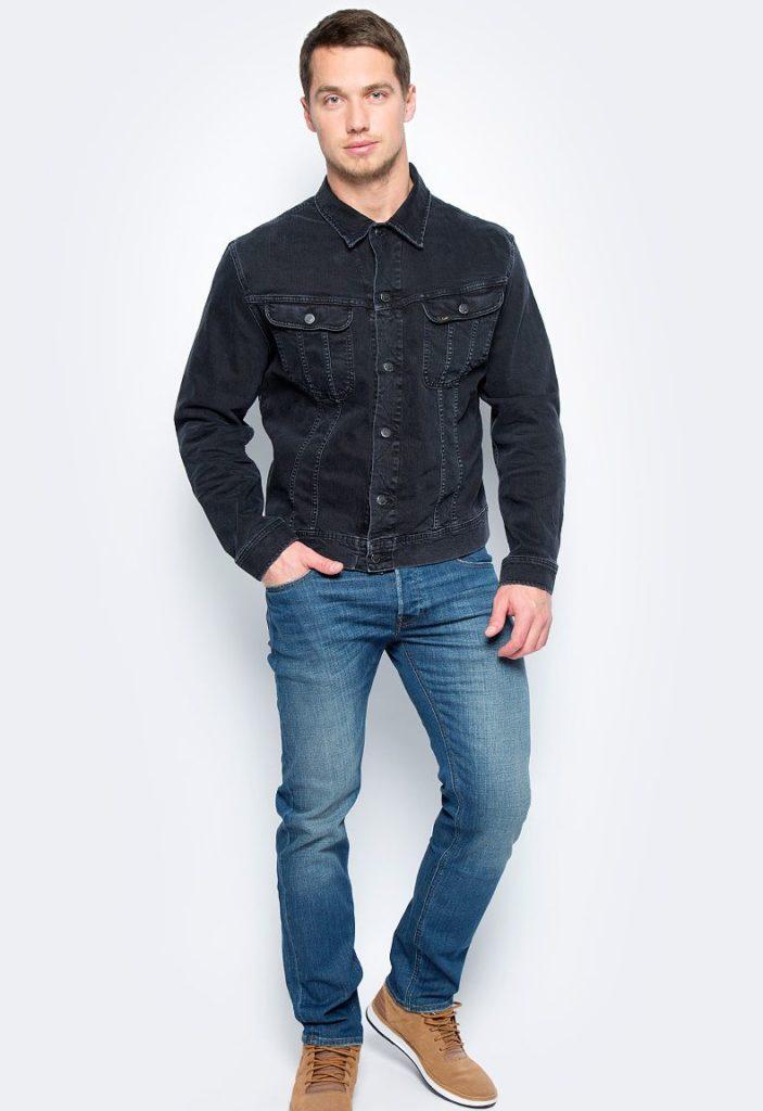 джинсовая куртка короткая черная