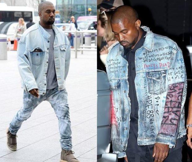 джинсовая куртка голубая синяя с надписями и нашивками