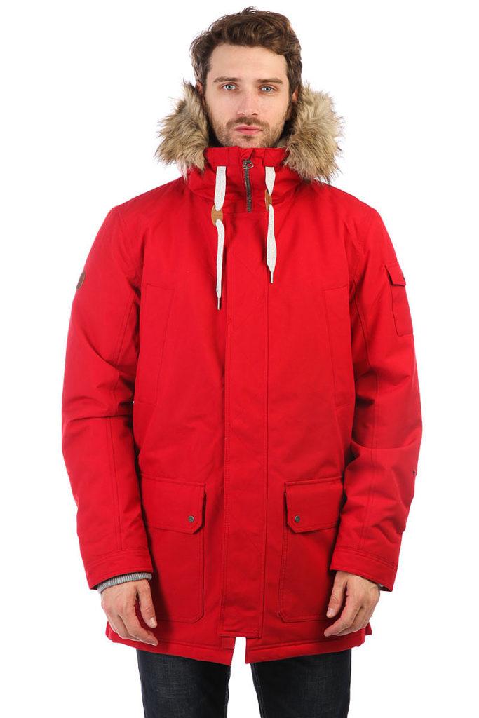 утепленная куртка красная