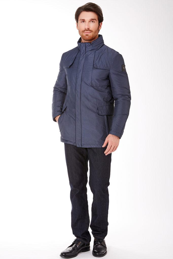 утепленная куртка синяя