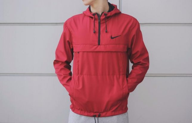 куртка анорак красная