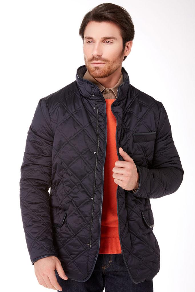 мужские куртки весна 2020: стеганая черная