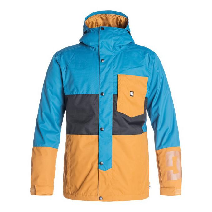 куртка сноубордическая голубая с оранжевым