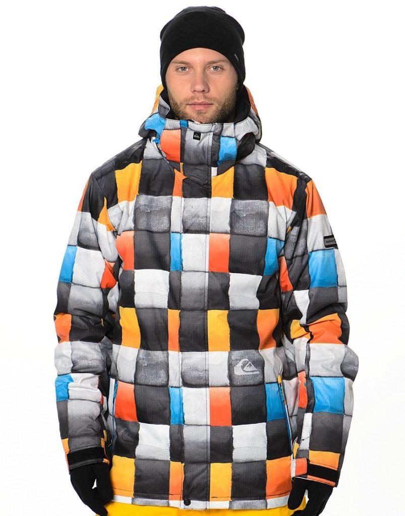 куртка сноубордическая квадраты яркие цветные