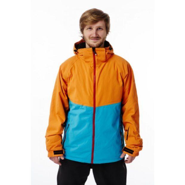 куртка сноубордическая оранжевая с голубым